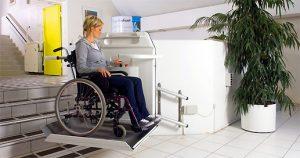 plates formes monte escalier pour fauteuil roulant cama. Black Bedroom Furniture Sets. Home Design Ideas