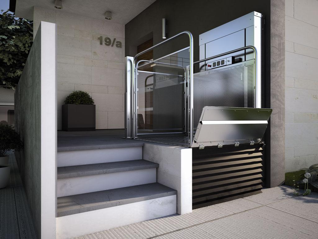 L vateur vertical monte escalier plate forme handicap for Ascenseur de maison individuelle