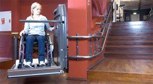 Monte escalier pour fauteuil roulant cama hl 6 ascier